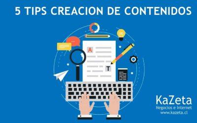 5 consejos para la creación de contenidos
