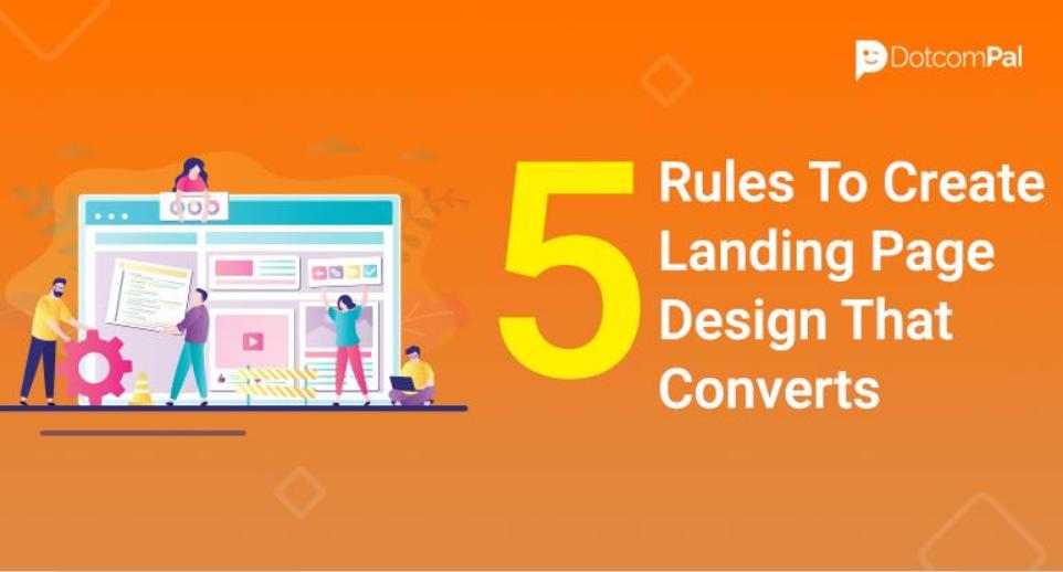 5 reglas para diseñar landing page